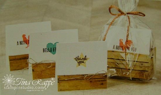 Stampin' Up! Wood Words stamp set, Wood Crate Framelits, Wood Words Bundle, Wood Textures SuiteStampin' Studio