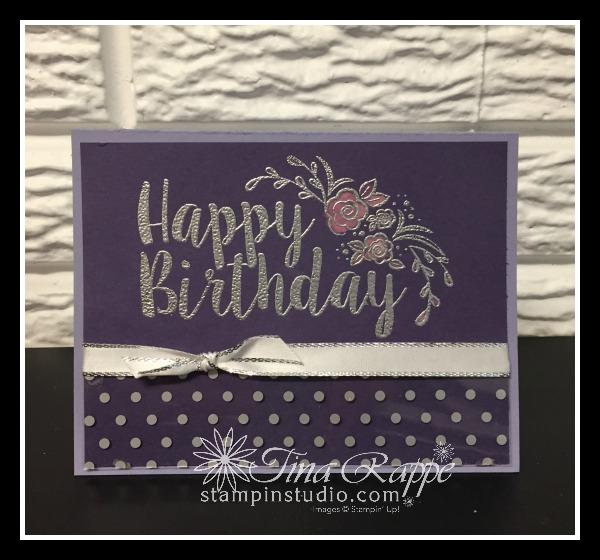 Stampin' Up! Big on Birthdays stamp set, Bleach Emboss Technique, Stampin' Studio