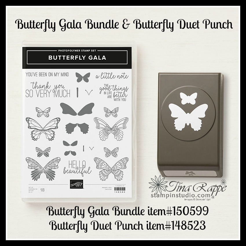 Stampin' Up! Butterfly Gala Bundle, Butterfly Duet Punch, Stampin Studio