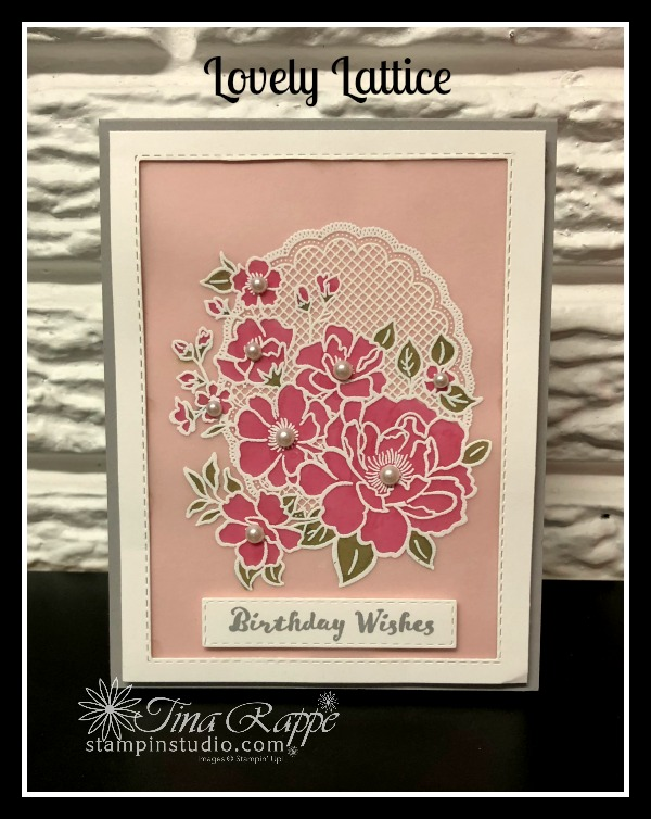 Stampin' Up! Lovely Lattice stamp set, Stampin' Studio