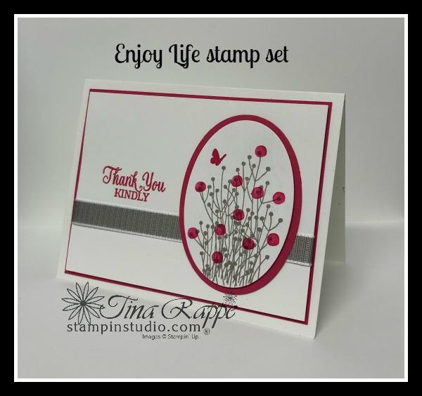 Stampin' Up! Enjoy Life stamp set, Stampin' Studio