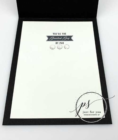 Stampin' Up! Country Club, Masculine Card, Stampin' Studio