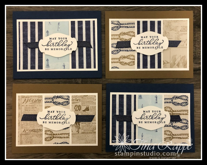 Stampin' Up! Come Sail Away Double Wonder Card Template, Stampin' Studio