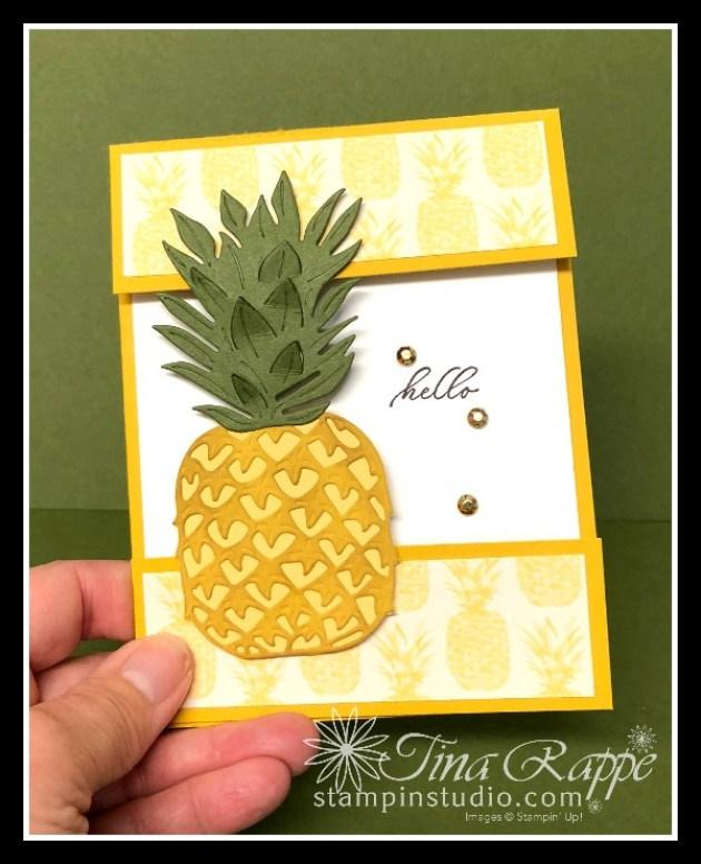Stampin' Up! Timeless Tropical Bundle, Missing Middle Fun Fold Card, Stampin' Studio