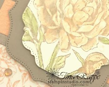 Stampin' Up! Prized peony stamp set, Peony Garden Suite, Fun Fold Card, Stampin' Studio