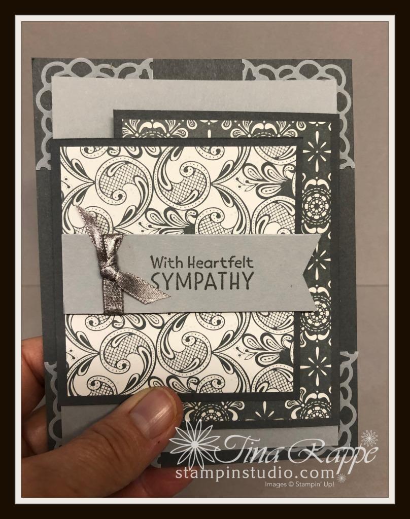 Stampin' Up! Simply Elegant DSP, Elegantly Said stamp set, Inspired Thoughts, Stampin' Studio