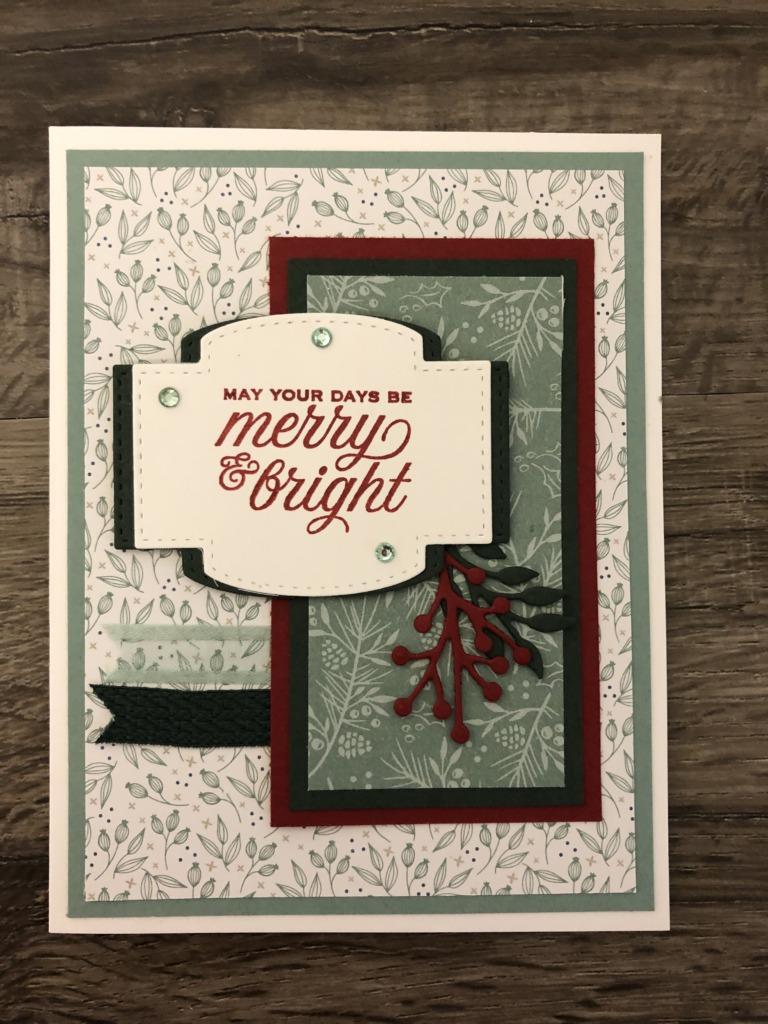 Stampin' Up! Tidings & Trimmings Bundle, Christmas Cards, Stampin' Studio