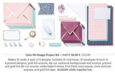 color me happy project kit stampin blends