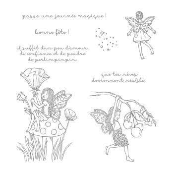 Poussière De Fée Jeu de timbres à montage libre (français)