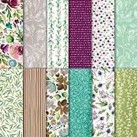 Frosted Floral 12 x 12 (30.5 x 30.5 cm) Specialty Designer Series Paper