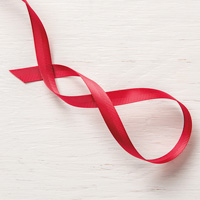 Real Red 3/8 (1 cm) Mixed Satin Ribbon