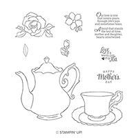 Tea Together Cling Stamp Set