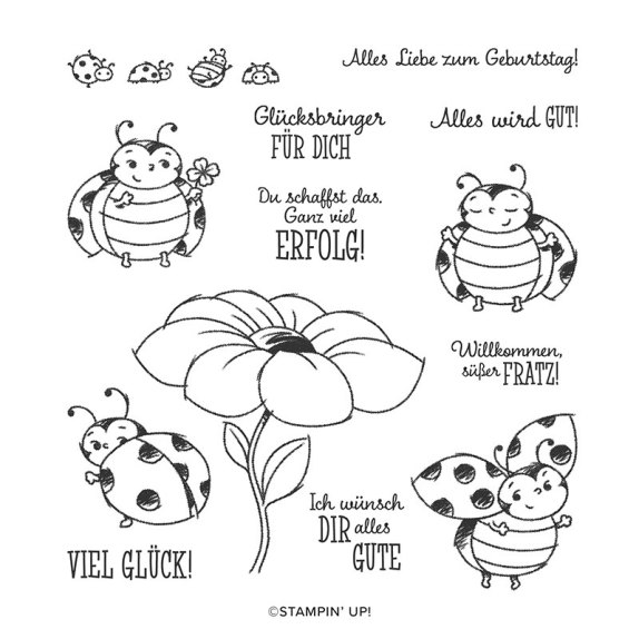 GLÜCKSKÄFER HOST CLING STAMP SET (GERMAN)