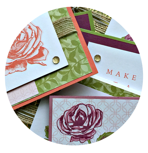 july card class in the mail petal garden memories more