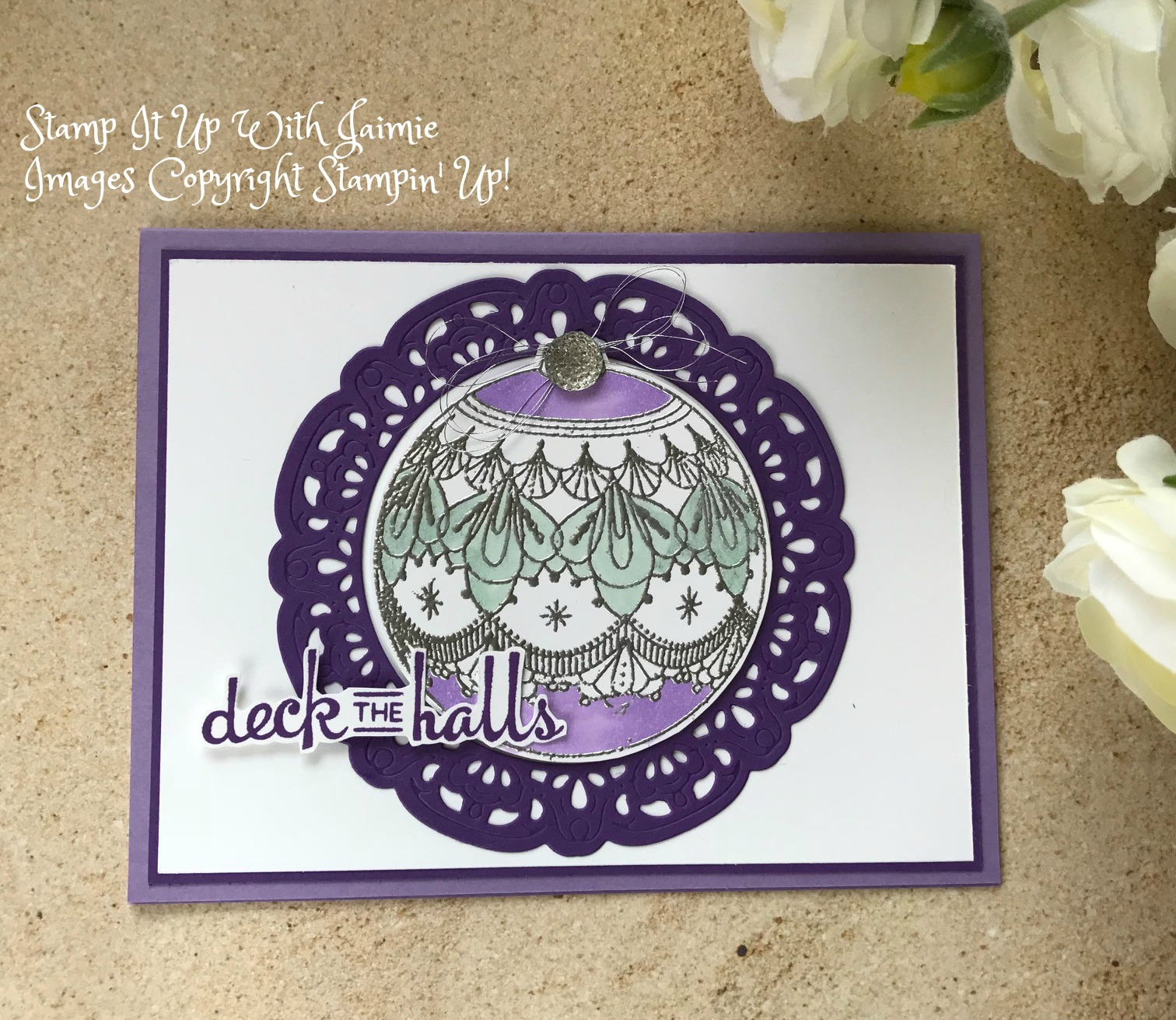 SNEAK PEEK Stampin Up Beautiful Baubles Stamp It Up