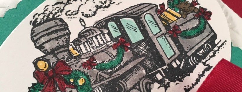 Locomotive in Christmas Magic Stamp Set by Stampin' UP 2016