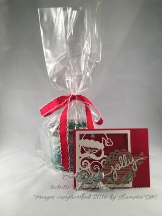 Image of Jolly Santa and gift bag