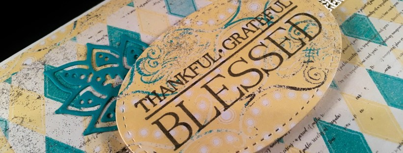 Closeup image of Thank you card made with Paisleys and Posies by Stampin UP