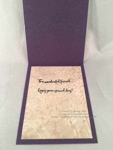 Inside of Dragonfly Dreams Card