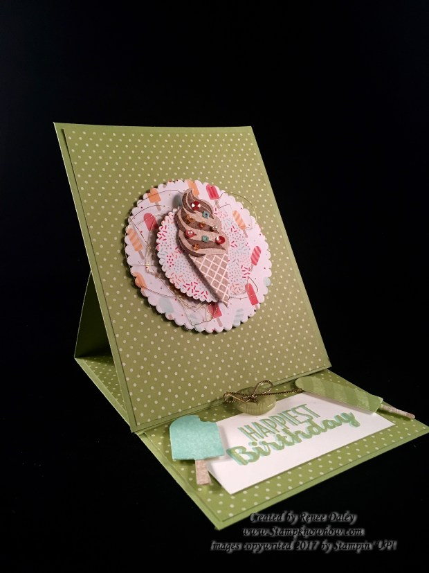 Easel Card Uses the Stampin' UP Cool Treats Bundle