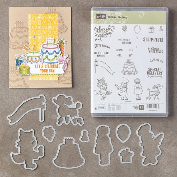 Birthday Delivery Photopolymer Bundle from Stampin' UP