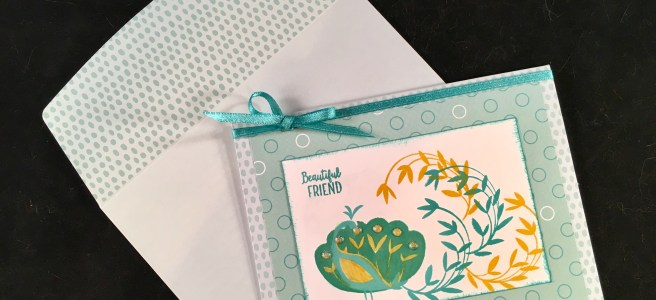 Beautiful Peacock Sale-A-Bration Stamp Set