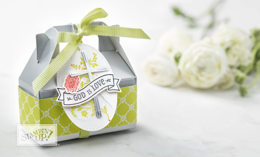 Silver Mini Gable Boxes by Stampin' UP