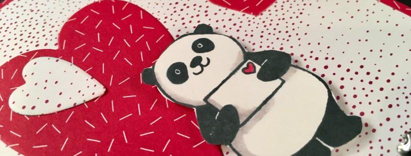 Closeup image of Party Pandas Sale-a-bration stamp set