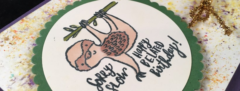 Quirky Critters Stamp Set image shows sloth