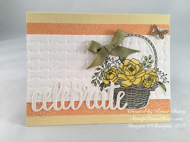 Card made with Blossoming Basket Bundle by Stampin' UP!