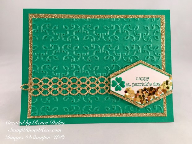 Image of Saint Paddy's Day Card using Stampin' UP products