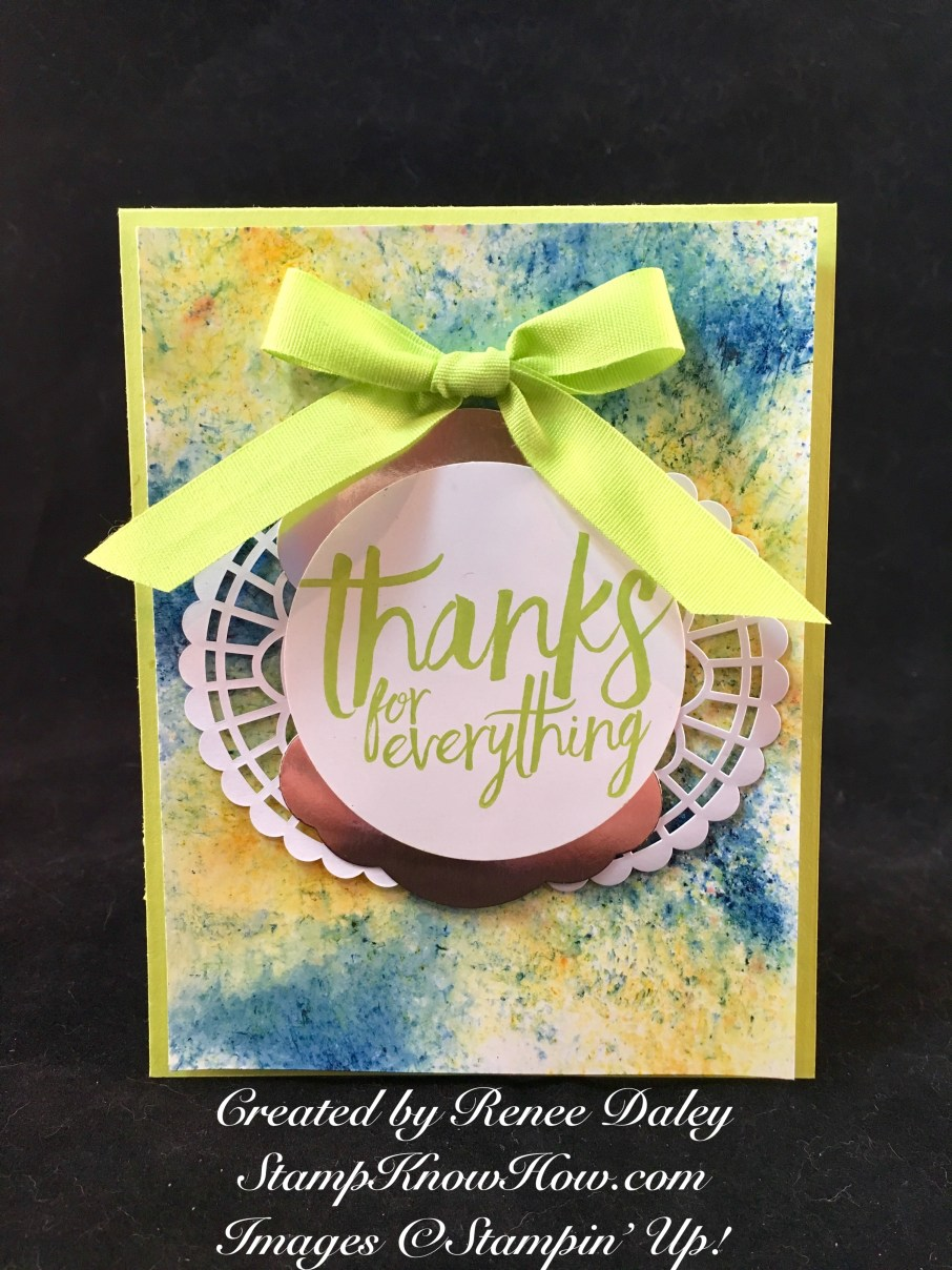 All things thanks stamp set by Stampin' UP