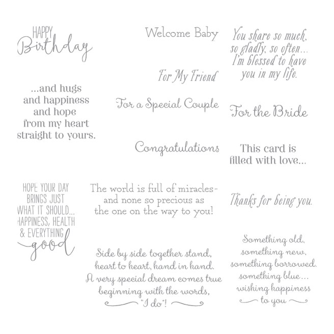 Special Celebrations Stamp Set by Stampin' UP