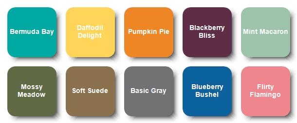 Color Palette for Mountain Range Card