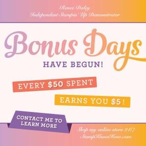 Bonus Days advertisement