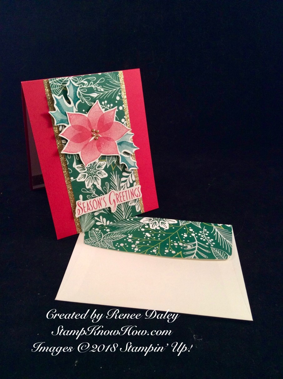 Stylish Christmas Card and Matching Envelope