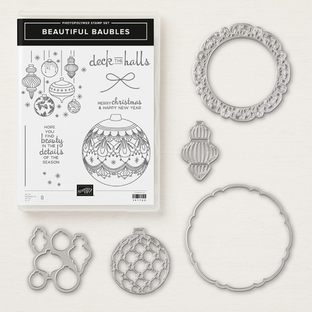 Beautiful baubles photopolymer bundle by Stampin' Up!