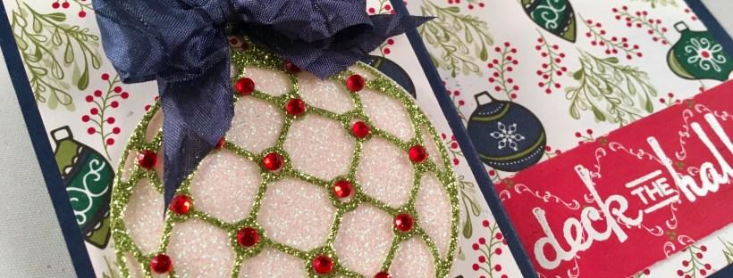Beautiful Baubles Z-fold Christmas Card