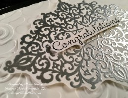 Flourish Filigree Wedding Card Close up