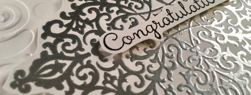 Flourish Filigree Wedding Card Close up