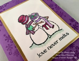 Contemporary Spirited Snowmen Christmas Card