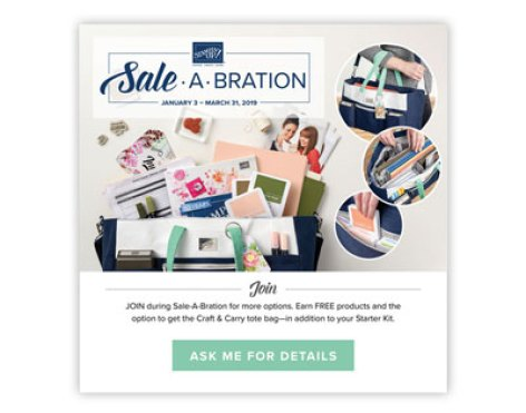 Join Stampin' Up during Sale-a-Bration