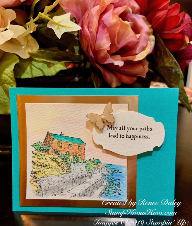 By the Bay Watercolored Card