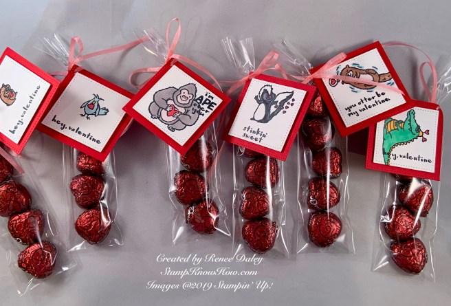 Hey Love Valentine Treat Bags
