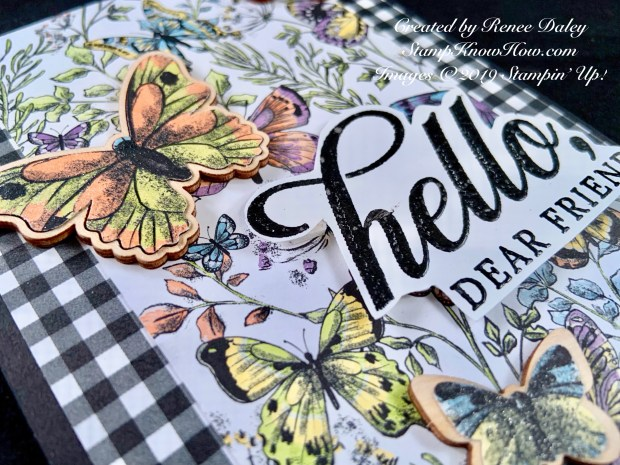 Life is Grand Birthday Card feature the Botanical Butterly DSP by Stampin' Up