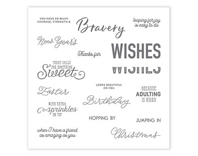 More Than Words Stamp Set
