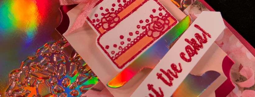 Piece of Cake Birthday Card Closeup