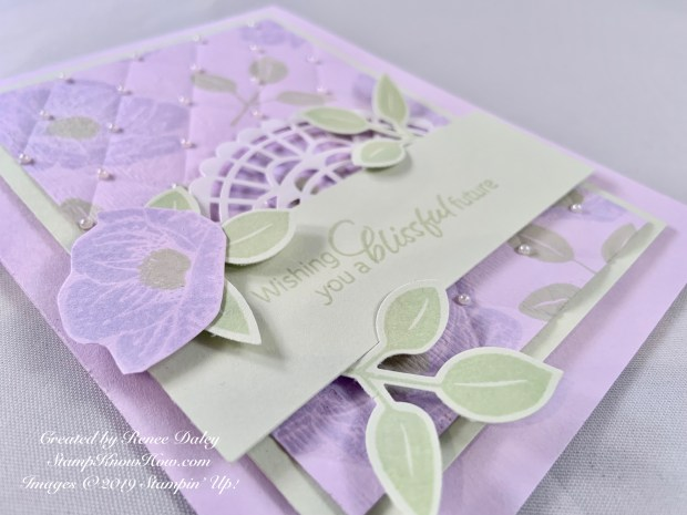 Floral Essence Wedding Day Card