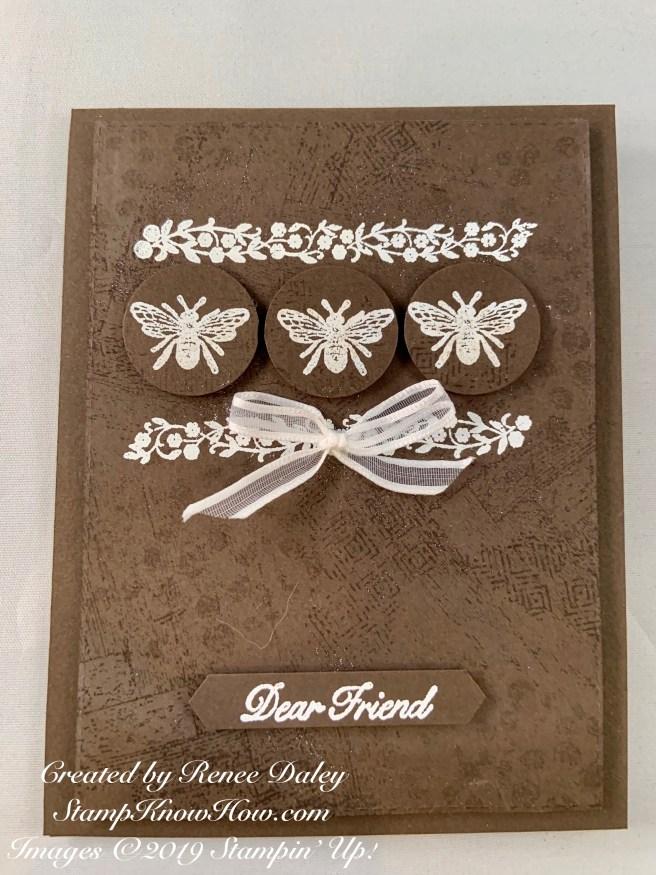 Very Vintage Bee Notecard