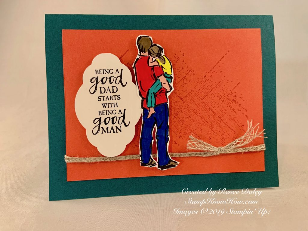 Father's Day Card features A Good Man Stamp Set by Stampin' Up